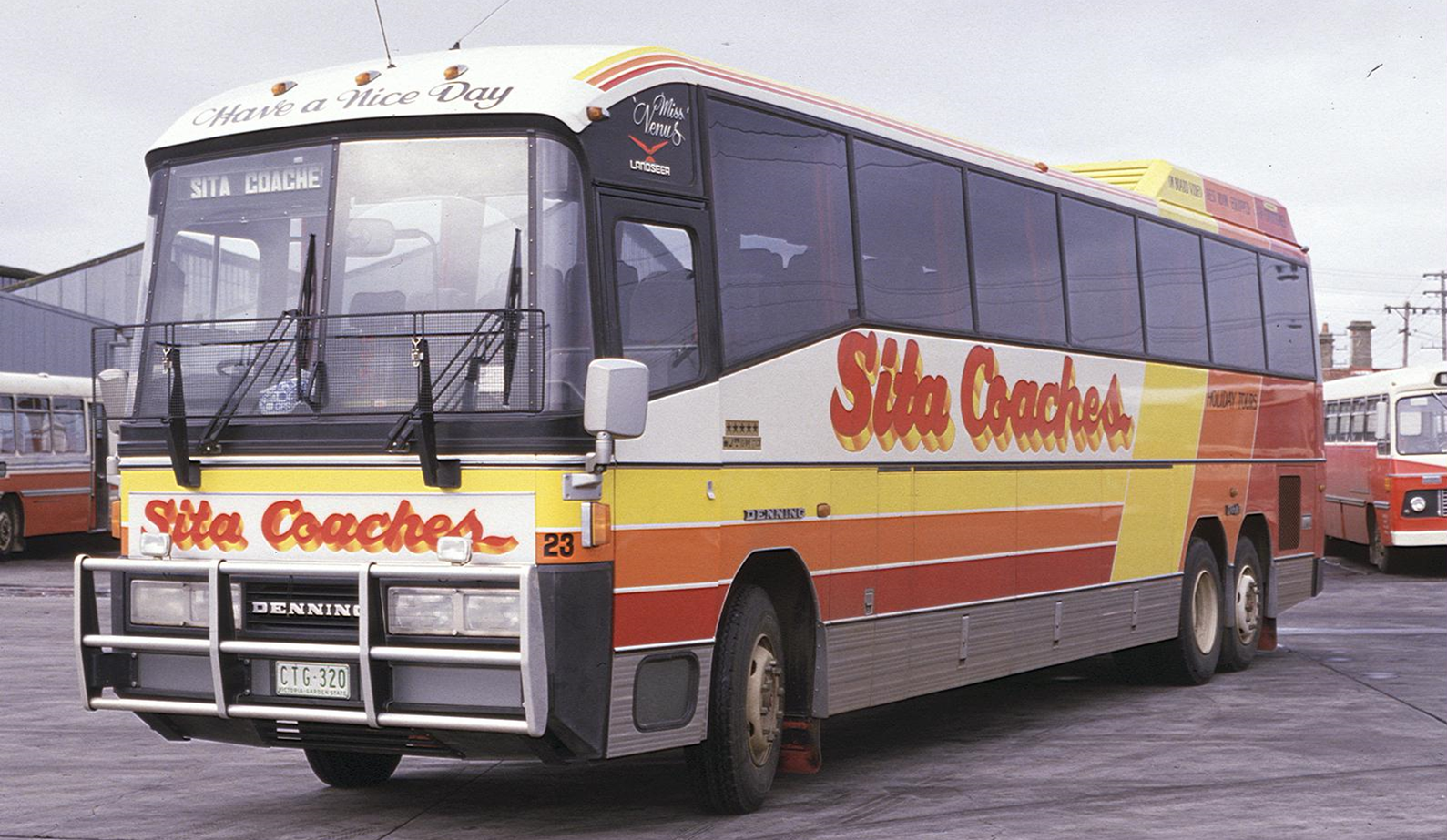Denning double decker for sale - The Denair Was Replaced In 1985 By The Denning Landseer One Of Australia S Premier Coach Products One Was Sita Bus Lines Ctg 320 Peter Kane