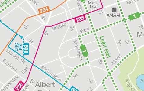 PTV Local Area Maps: Port Phillip