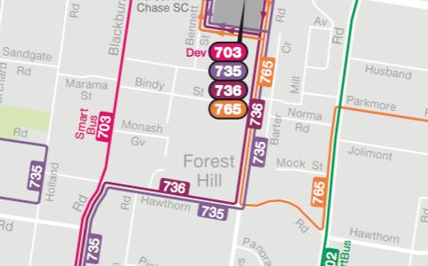 PTV Local Area Maps: Whitehorse